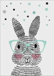 Poster Mr. Rabbit A3 29.7x40 cm