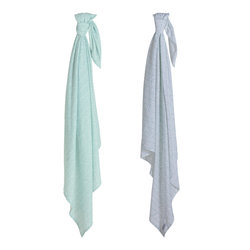 Little Dutch Swaddle doek Mint leaves (set van 2)