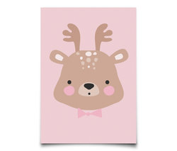 Eef Lillemor kaart Forrest animals Ms.Deer
