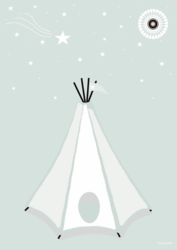 Poster Tipi in the Night