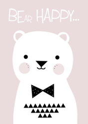 Poster Be Happy Bear
