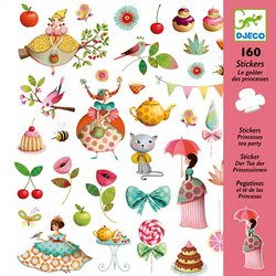 DJECO Stickers Tea Party 160st.
