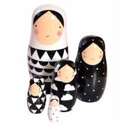 Nesting Dolls Sketch Inc. Zwart Wit