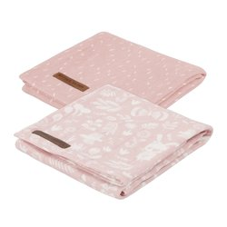 Litte Dutch Swaddle doeken adventure pink (set van 2)