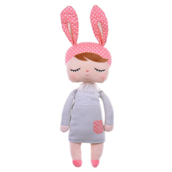 MeToo Angela Lapin Doll Grijs