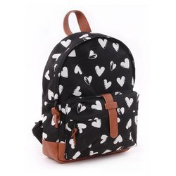 Kidzroom Kinderrugzak Black hearts