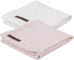 Little Dutch Swaddle doek Peach leaves (set van 2)
