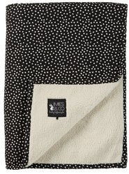 Mies & Co soft teddy deken Cozy Dots black