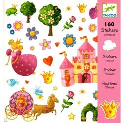 DJECO Stickers Prinses 160st.