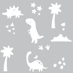 Muurstickers Dino Wit Eina Design