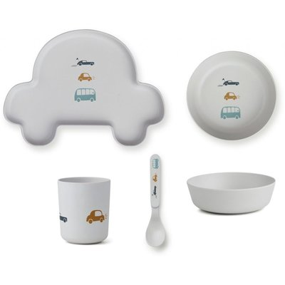 LIEWOOD kinder servies Auto Grey