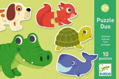 DJECO Speelgoed Puzzel Duo Animals 2jr+