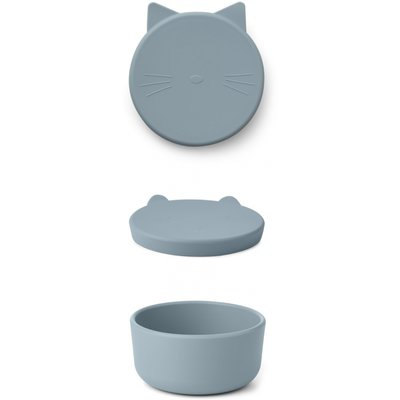 LIEWOOD Cornelius Snack Box Cat Sea Blue