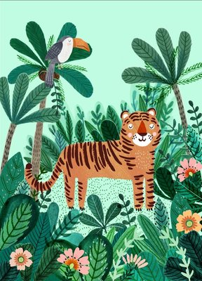 Botanic Tiger kaart Rebecca Jones