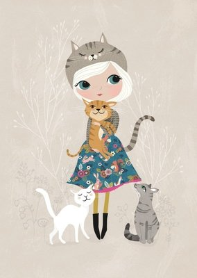 Kaart Rebecca Jones Cat Lover