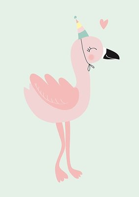 Mimirella Poster Happy Flamingo A4