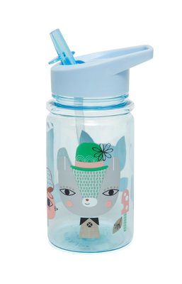 Drinkfles Petit Monkey Lama & Friends Blauw