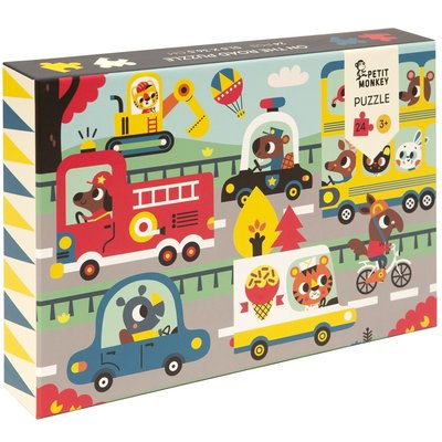 Puzzel Petit Monkey On the Road 3jr+