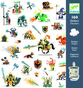DJECO Stickers Ridders 160st.