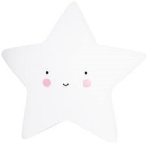 A Little Lovely Company Star Nightlight White
