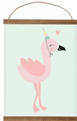 Mimirella Poster Happy Flamingo A3