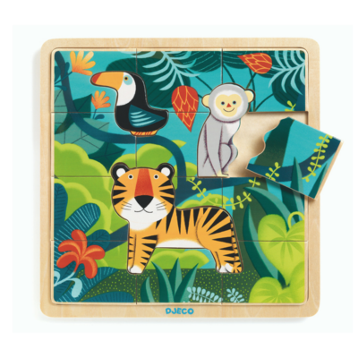 DJECO Houten Puzzel Jungle 3jr+