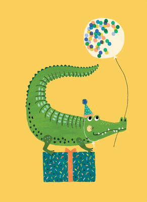 Petit monkey kaart Party crocodile