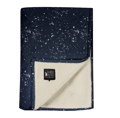 Mies & Co Soft Teddy Wieg deken Galaxy Parisian Night