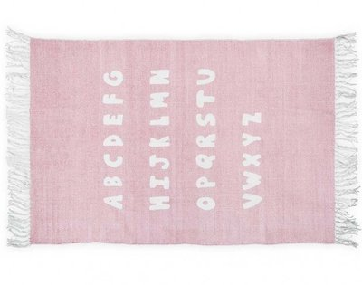 Jollein Vloerkleed Kinderkamer ABC Blush Pink