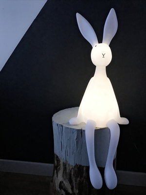 Rose in April Lamp Joseph the Bunny