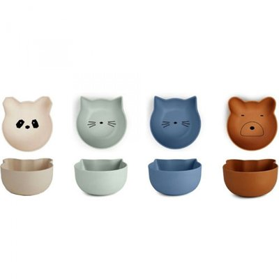 LIEWOOD Snack Bowls Blue mix