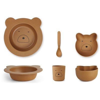 LIEWOOD baby servies Bear Mustard