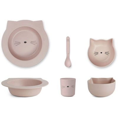 LIEWOOD baby servies Cat Rose