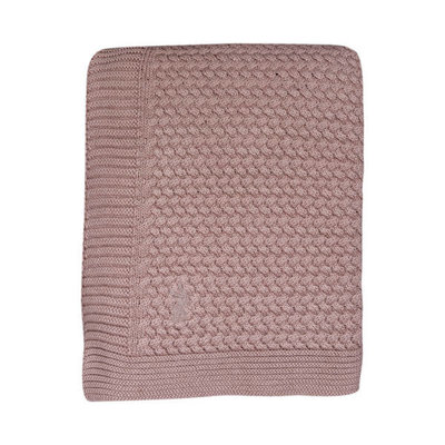 Mies & Co Wiegdeken Gebreid Pale Pink