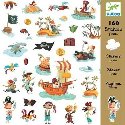 DJECO Stickervellen Piraten 160st.