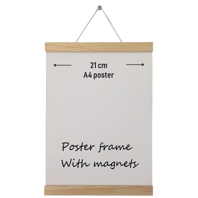 Poster hanger hout A4