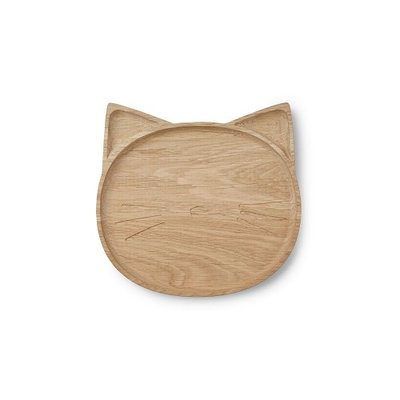 LIEWOOD Houten Bordje Conrad Cat Natural