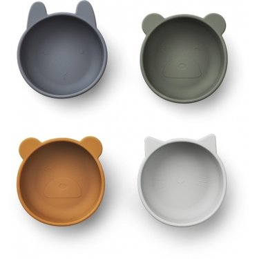 LIEWOOD Iggy Snack Bowls siliconen Blue mix