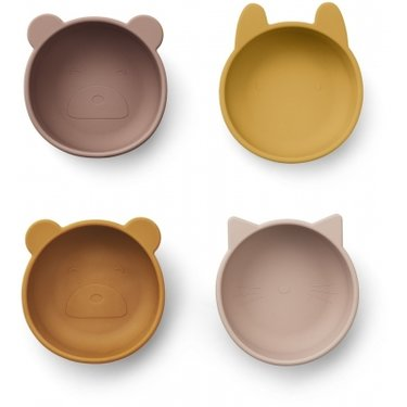 LIEWOOD Iggy Snack Bowls siliconen Rose mix