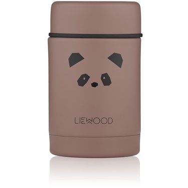 LIEWOOD Nadja Food Jar Panda Dark Rose