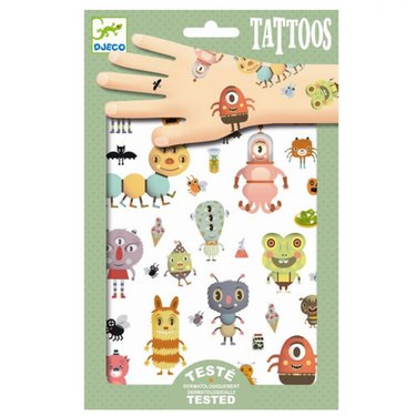 DJECO Kindertattoo Monsters