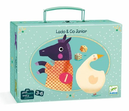 DJECO Ganzenbord Ludo & Co 3jr+