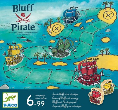 DJECO Bordspel Strategisch Blufspel Piraten