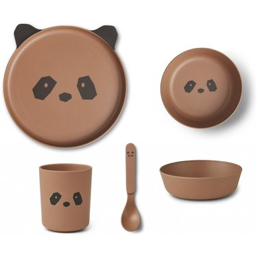 LIEWOOD Kinderservies bamboe panda tuscany rose