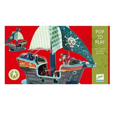 DJECO Speelgoed Pop to Play Piratenschip