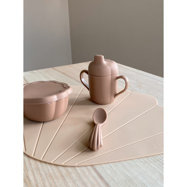 Konges Slojd Babyservies Siliconen Clam Set Blush