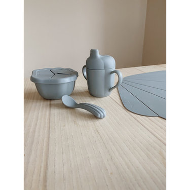 Konges Slojd Babyservies Siliconen Clam Set Light Blue