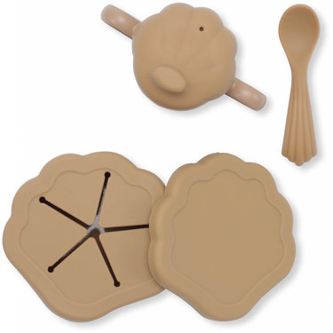 Konges Slojd Babyservies Siliconen Clam Set Terra Cotta