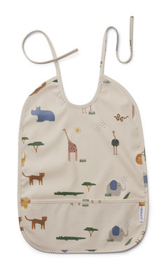 LIEWOOD Slab Lai Bib Safari Sandy Mix