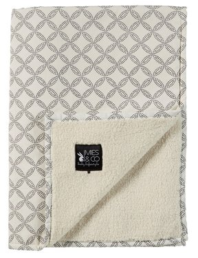 Mies & Co soft teddy deken Geo Circles